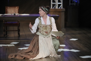 Judith (Rachel Cairns) struggles to keep the energy left on the stage by her fellow players. Photo credit - David Blue