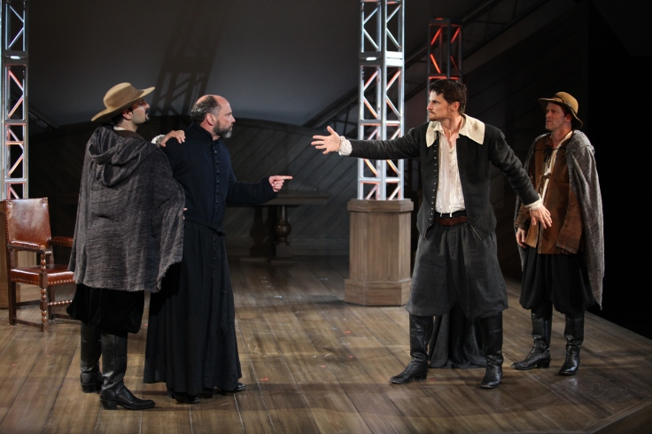 William Shakespeare goes from writer to character at Bard on the Beach's production of Equivocation by Bill Cain. Photo credit - David Blue