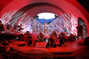 Meg Roe's Tempest finds the balance between wonder and soliloquy at Bard on the Beach in 2014. Photo credit - David Blue