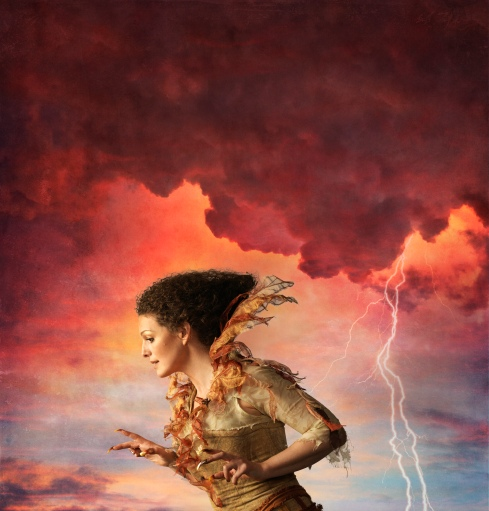Jennifer Lines shines as Ariel in The Tempest. Photo and image design - David and Emily Cooper