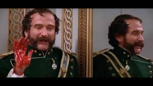 Robin Williams as Osric in Branagh's epic production of Hamelt (1996)