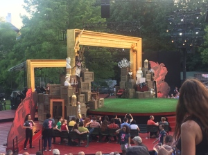 Set for Cymbeline in Central Park.