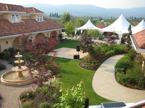Now that's a locale to check out the Bard. - Okanagan Villa Estate Winery.