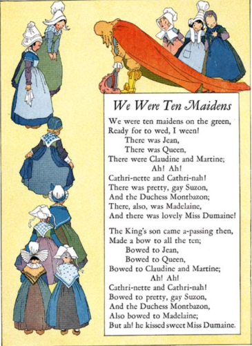 We Were Ten Maidens, from Nursery Friends From France